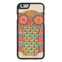 Colorful Owl iPhone 6 Wood Case
