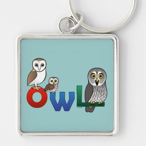 Colorful Owl Key Chain