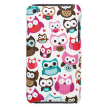 Colorful owl kids pattern ipod case