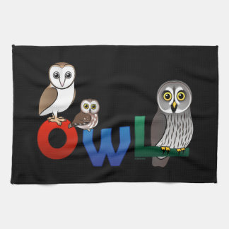 Colorful Owl Kitchen Towels