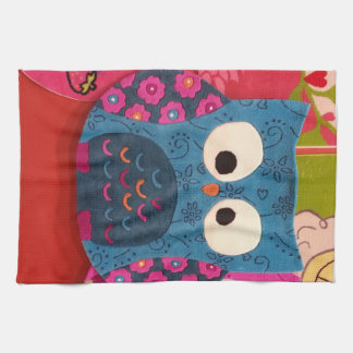 Colorful Owl Towels