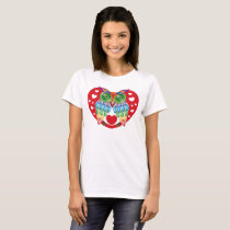 Colorful Owl, Love T-Shirt