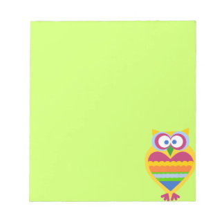 Colorful Owl Notepads