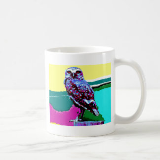 Colorful Owl on a post Posterization Coffee Mug