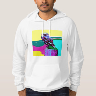 Colorful Owl on a post Posterization Hoody
