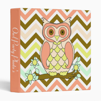Colorful Owl Party Photo Album Binder