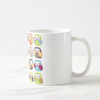 Colorful Owl Pattern Classic White Coffee Mug