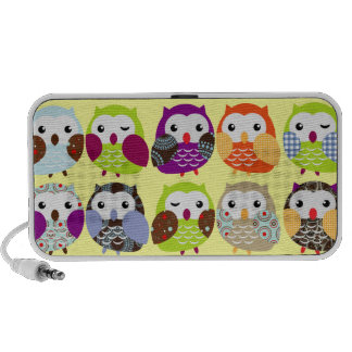 Colorful Owl pattern doodle speakers