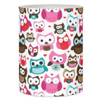 colorful owl pattern flameless candle