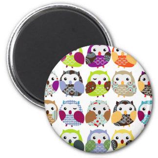 Colorful Owl Pattern Fridge Magnet