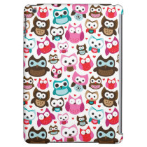 colorful owl pattern iPad air cases