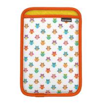 Colorful Owl Pattern iPad Mini Sleeve