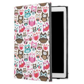 colorful owl pattern iPad pro case