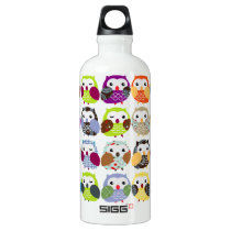 Colorful Owl Pattern Liberty Bottle