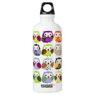 Colorful Owl Pattern Liberty Bottle