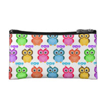 Colorful Owl Pattern Makeup Bag