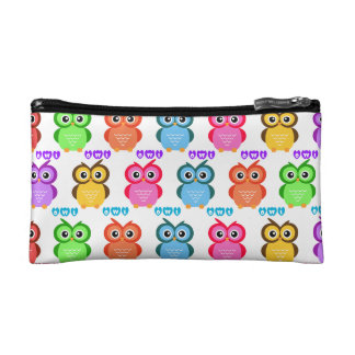 Colorful Owl Pattern Makeup Bag