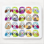 Colorful Owl Pattern Mouse Pad