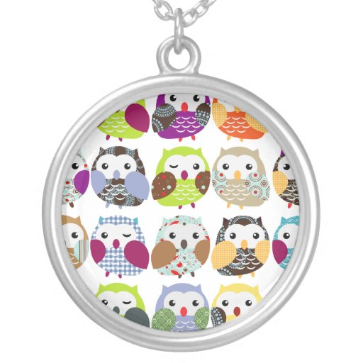 Colorful Owl pattern Necklace