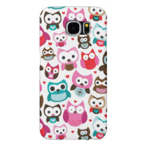 colorful owl pattern samsung galaxy s6 case