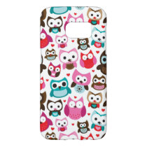 colorful owl pattern samsung galaxy s7 case