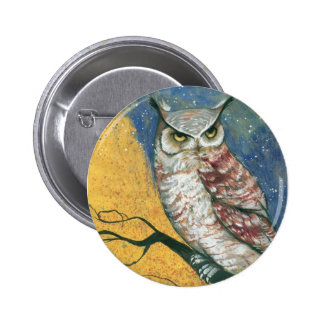 colorful owl pinback button