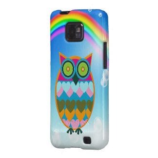 Colorful Owl & Rainbow Samsung Galaxy Case Galaxy S2 Cover