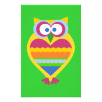 Colorful Owl Stationery