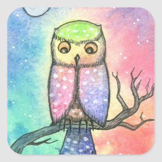 Colorful Owl Stickers sticker