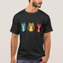 Colorful Owl Trio T-Shirt