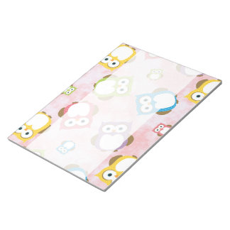 Colorful Owls - Green Blue Purple Yellow Memo Notepads