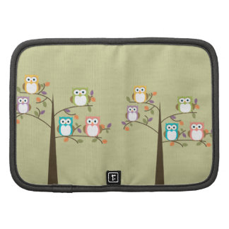 Colorful Owls in Pretty Tree Organizers