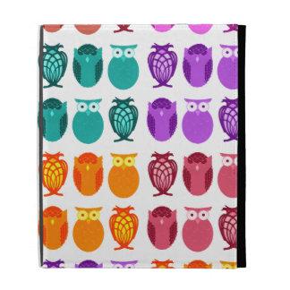 Colorful Owls iPad Folio Cover