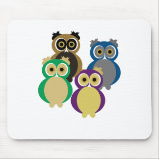Colorful Owls Mouse Pad