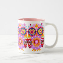 Colorful Owls Mug
