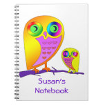 Colorful Owls Notebooks