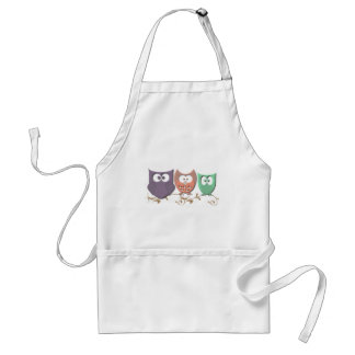 Colorful Owls on a Vine Aprons