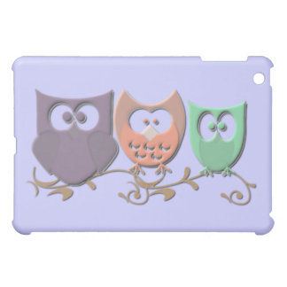 Colorful Owls on a Vine Picture Cover For The iPad Mini