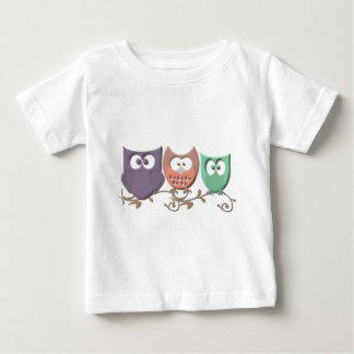 Colorful Owls on a Vine Picture Tshirts