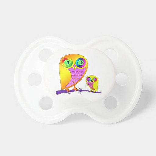 Colorful Owls Pacifier
