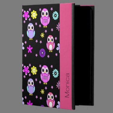 Colorful Owls Personalized iPad Air 2 Folio Case Powis iPad Air 2 Case