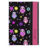Colorful Owls Personalized iPad Mini Folio Case Cases For iPad Mini
