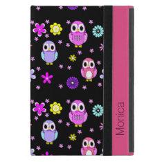 Colorful Owls Personalized iPad Mini Folio Case Cases For iPad Mini at Zazzle