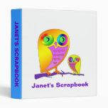 Colorful Owls Vinyl Binder