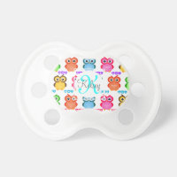 Colorful Own Monogram Pacifier