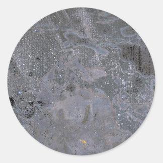 Colorful Oxidized Silver Leaf Classic Round Sticker