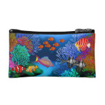 Colorful Pacific Coral Reef Bagettes Bag Makeup Bag