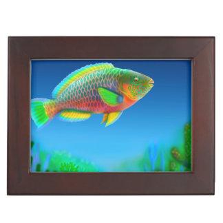 Colorful Pacific Parrotfish Keepsake Box