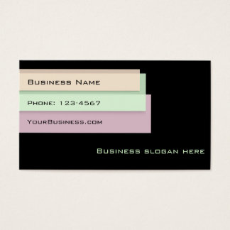 Colorful Page Markers Business Card