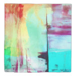 Colorful Paint Abstract Duvet Cover